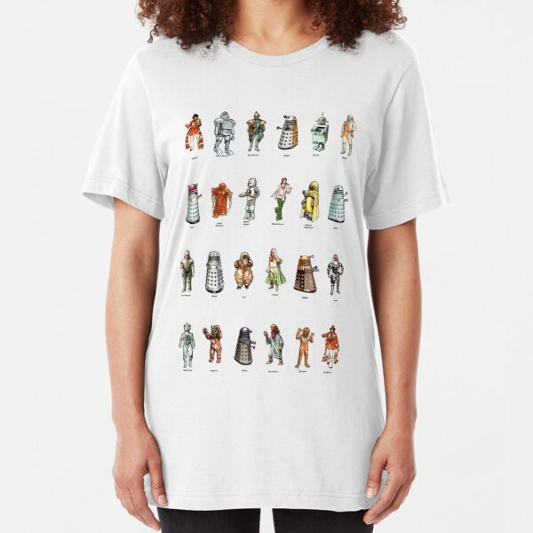 Doctor Who - 1975 Weetabix Promotion Characters Slim Fit T-Shirt