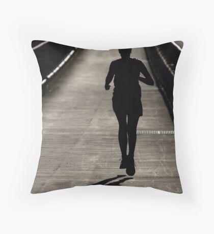 Running Towards... Throw Pillow