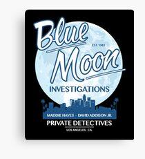 Moonlighting -  Blue Moon Investigations Dark Variant Canvas Print