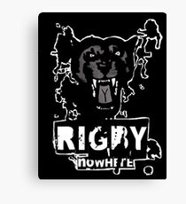Rigby Nowhere Panther  Canvas Print