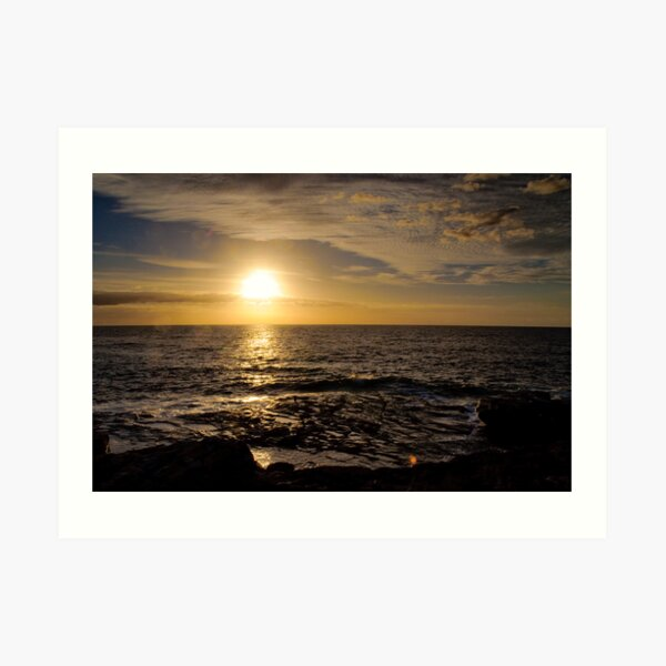 Sunrise @ Clovelly Art Print