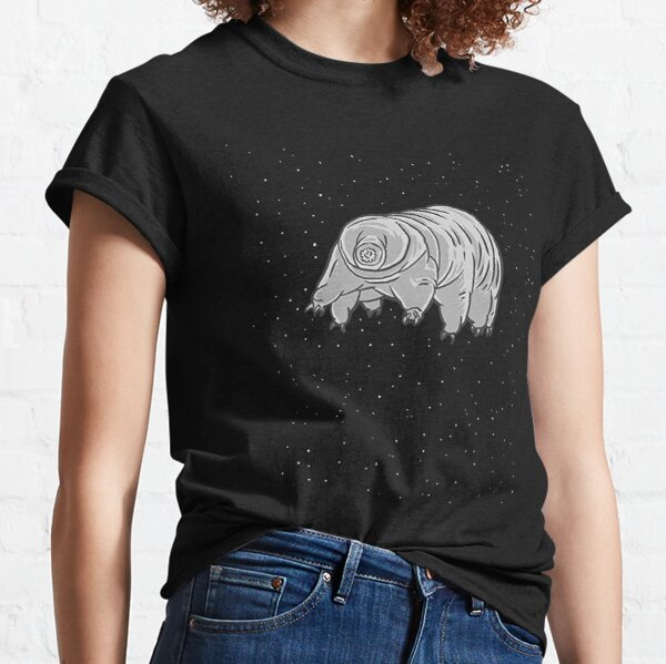 Cool Science T Shirts-Water Bear Tardigrade In Space Gifts for Women Men Classic T-Shirt
