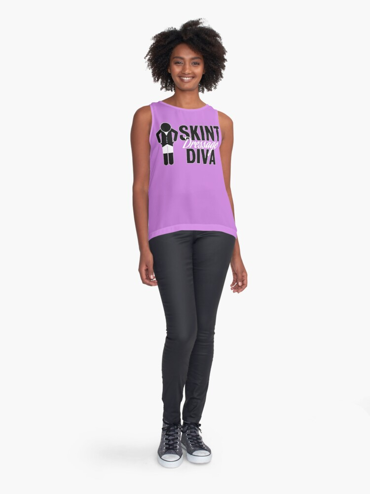 Alternate view of Skint Dressage Diva - Pink Sleeveless Top