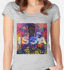 Abstract ISSA Women's Fitted Scoop T-Shirt