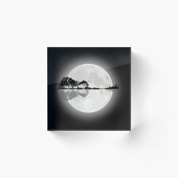 Moonlight Nature Guitar Acrylic Block