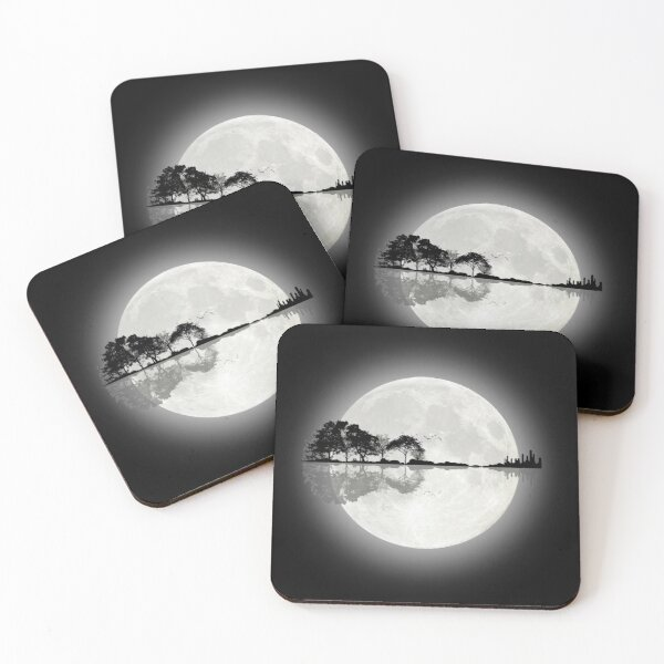 Moonlight Nature Guitar Coasters (Set of 4)