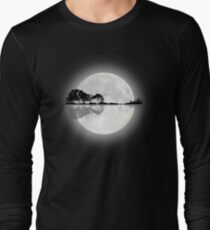 Moonlight Nature Guitar Long Sleeve T-Shirt