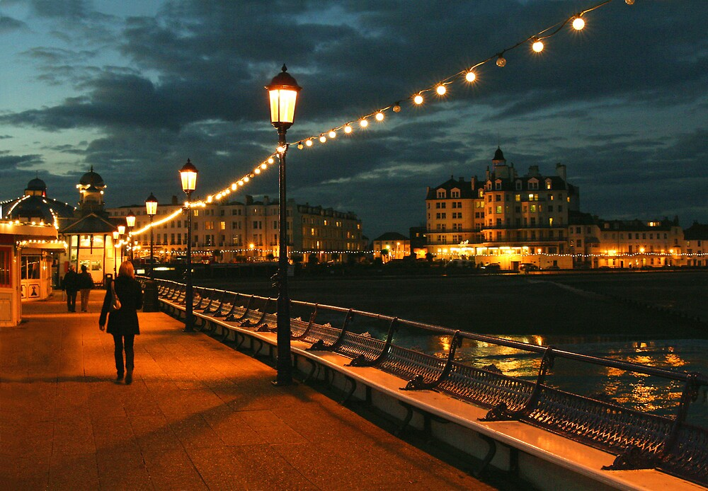 Eastbourne pier at twighlight by fasteddie42