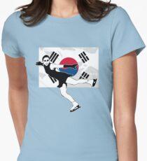 Camiseta entallada para mujer Patinaje artístico