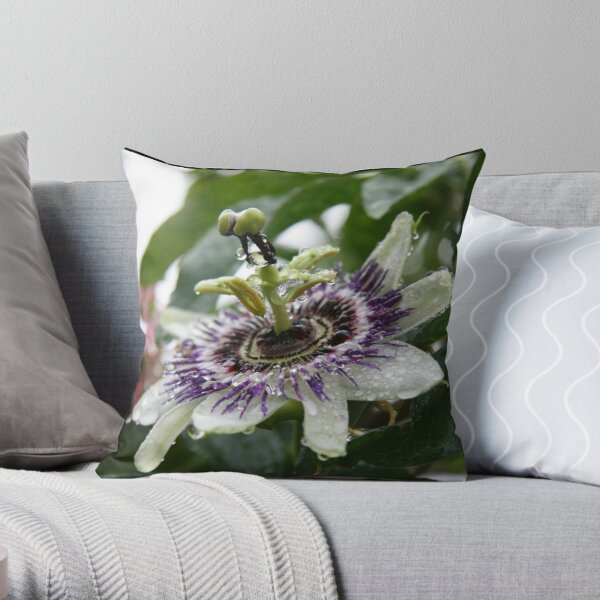 Love is Passion - Flower Throw Pillow