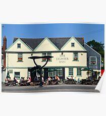 The Lighter Inn, Topsham, Devon UK Poster