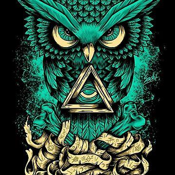 Owl blue  by ibrahimGhd