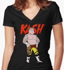 Action Figure: Kash Women's Fitted V-Neck T-Shirt
