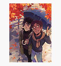 Herbst Spaziergang Fotodruck