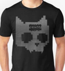 LARGE DISTRESSED DIGITAL CAT SKULL Unisex T-Shirt