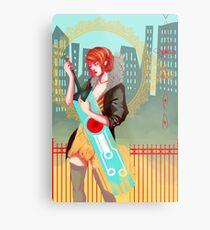 Red and Sword Metal Print