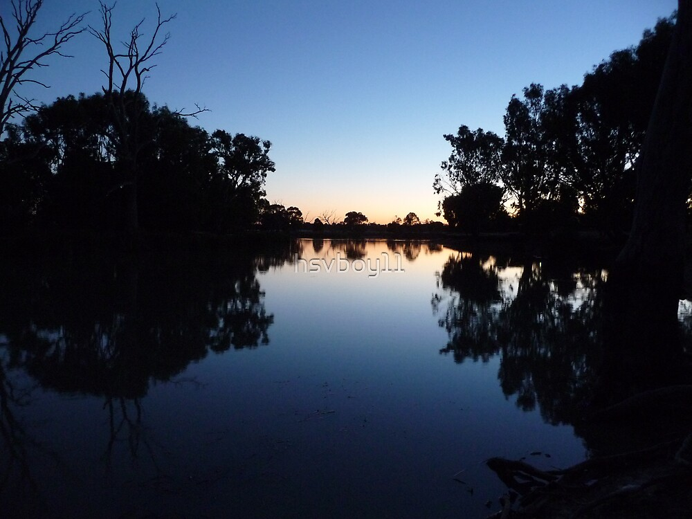 Sunset over the wimmera river by hsvboy11