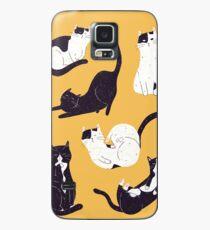 Funda/vinilo para Samsung Galaxy Gatos sobresalientes en amarillo
