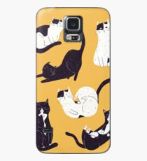 Outstanding Cats in Yellow Case/Skin for Samsung Galaxy