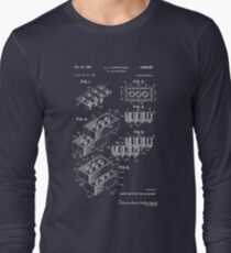 Lego Patent - Dark Background Long Sleeve T-Shirt