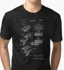 Lego Patent - Dark Background Tri-blend T-Shirt