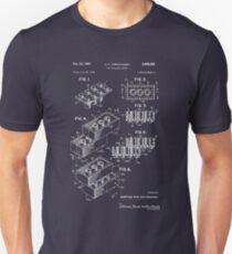 Lego Patent - dunkler Hintergrund Unisex T-Shirt