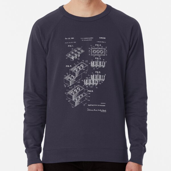 Lego Patent - Dark Background Lightweight Sweatshirt
