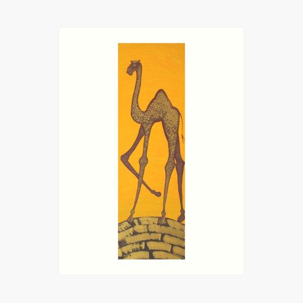 ELEGANT CAMEL (OUTBACK AUSTRALIA) Art Print