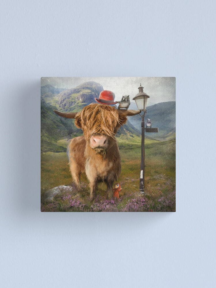 "Alternate view of ""Highland Cow"" Canvas Print"