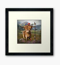 """Highland Cow"" Framed Print"
