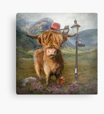 """Highland Cow"" Metal Print"