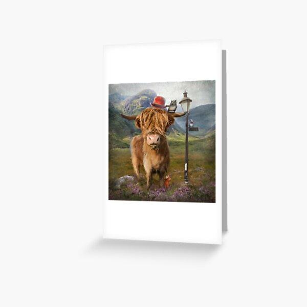 """Highland Cow"" Greeting Card"