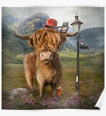 """Highland Cow"" Poster"