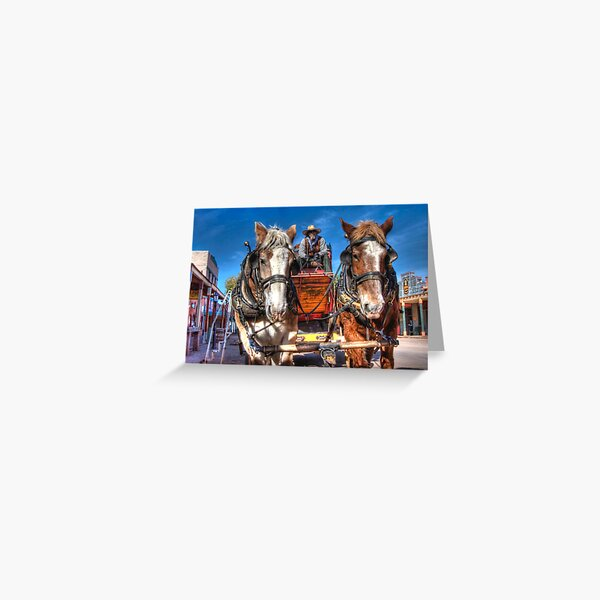 Tombstone Stagecoach Greeting Card