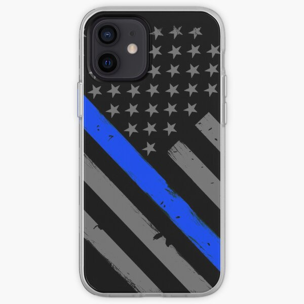 Police Officer Flag Thin Blue Line Support iPhone Soft Case