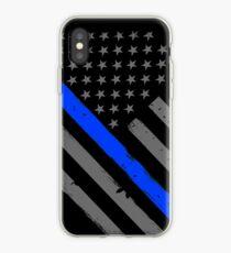 Polizist Flagge dünne blaue Linie Unterstützung iPhone-Hülle & Cover