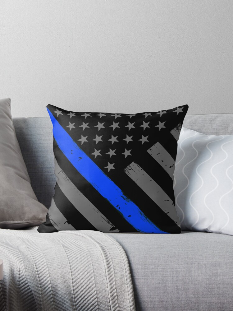 Polizist Flagge dünne blaue Linie Unterstützung von bluelinegear