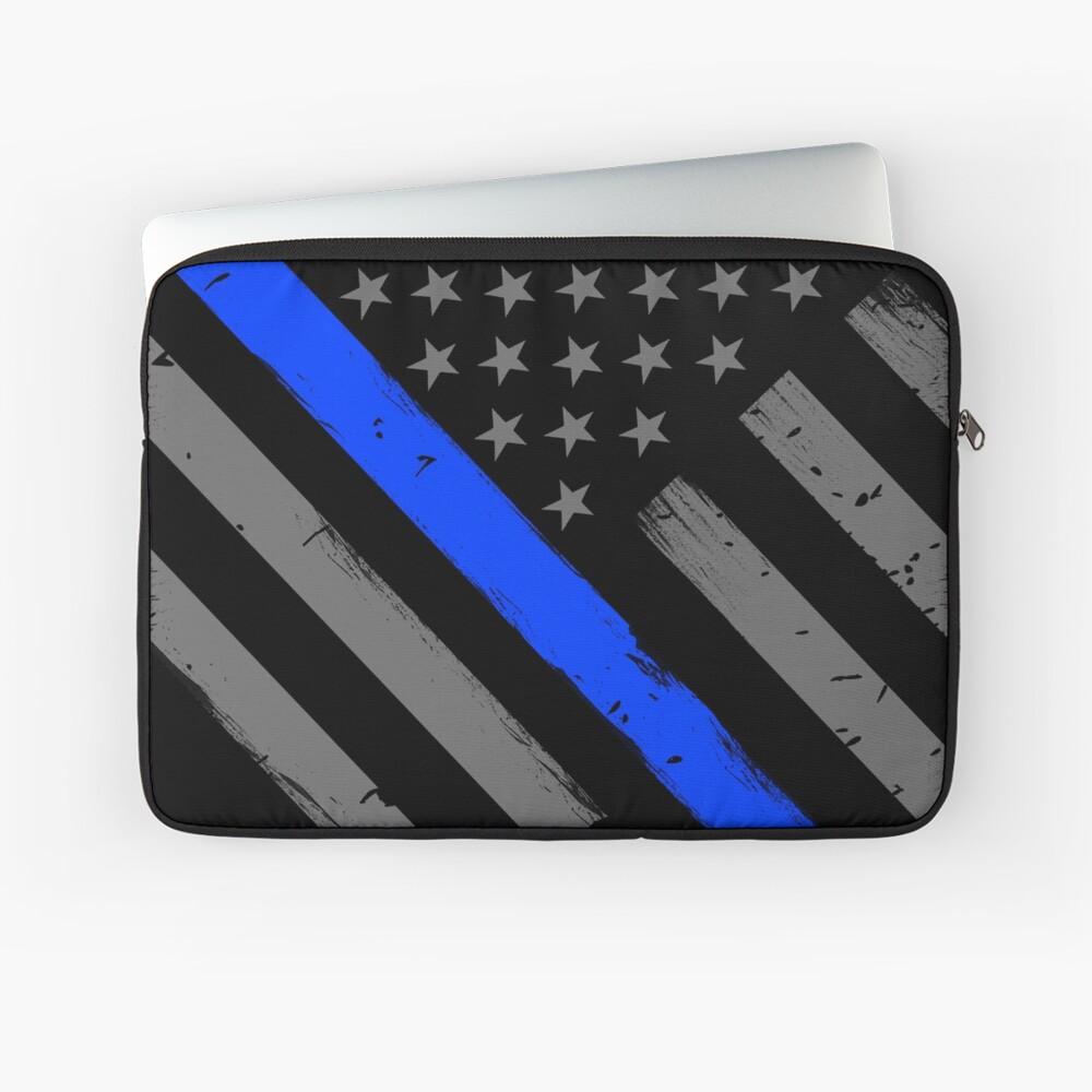 Polizist Flagge dünne blaue Linie Unterstützung Laptoptasche