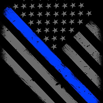 Police Officer Flag Thin Blue Line Support by bluelinegear