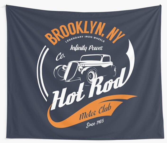 Hot Rod Motor Club Retro Vintage by Sven Horn