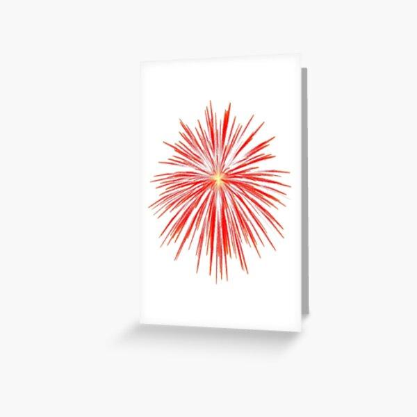 Flash of firework Greeting Card