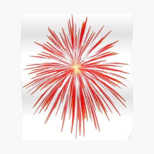 Flash of firework Poster