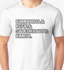 Kombucha & Kefir Sauerkraut & Kimchi Fermented Foods Design Unisex T-Shirt