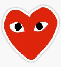 Comme des garçons Red Heart Play Sticker