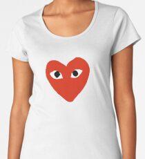 Comme des garçons Red Heart Play Women's Premium T-Shirt