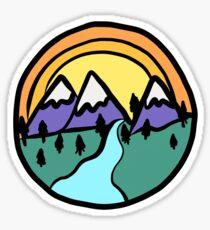 mountain scene Sticker