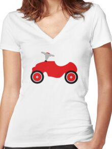 Play car Women's Fitted V-Neck T-Shirt