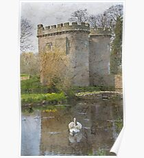 Whittington Castle ~ old colour Poster