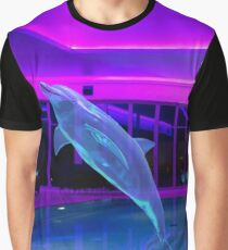 Translucent Dolphin Graphic T-Shirt