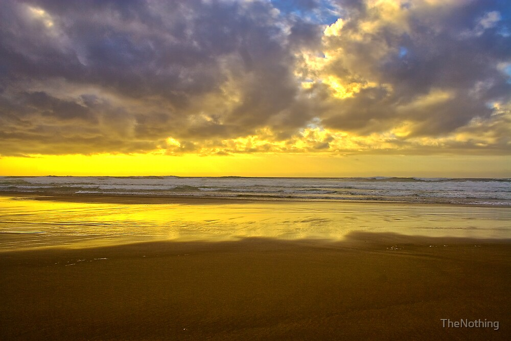 Sunset on Lincoln City Beach by TheNothing